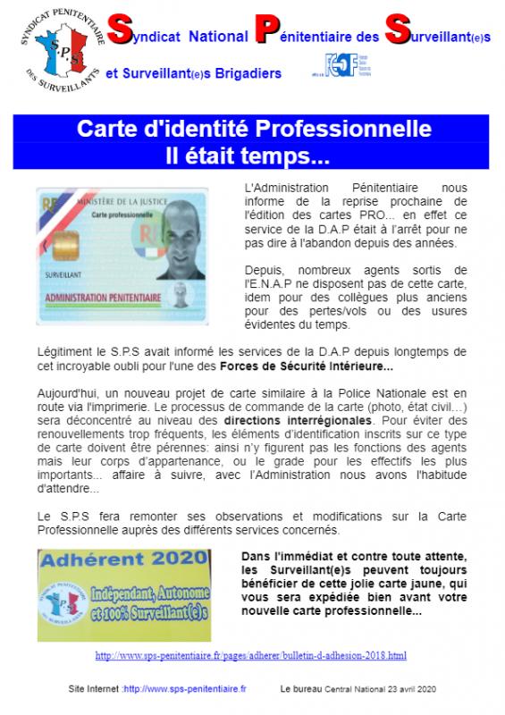 Carte d identite pro