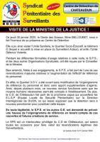 Chateaudun visite de la ministre de la justice