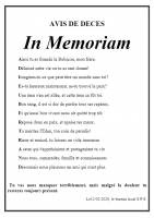 Chateauroux avis de deces in memoriam