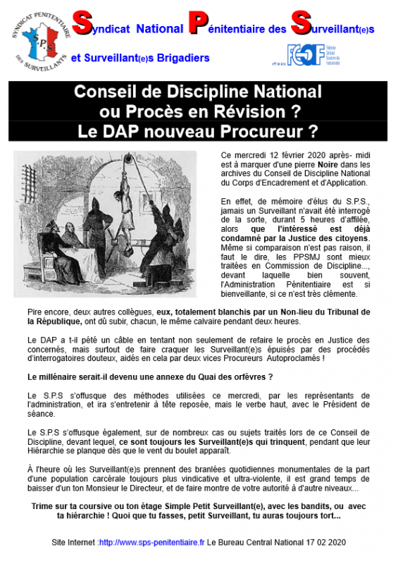 Conseil de discipline national