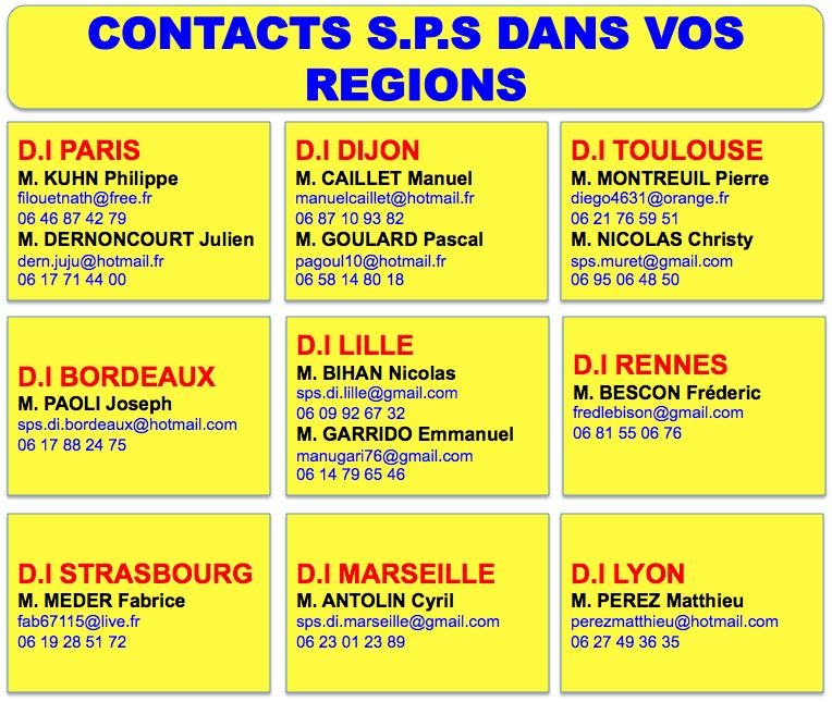 Contacts régionaux