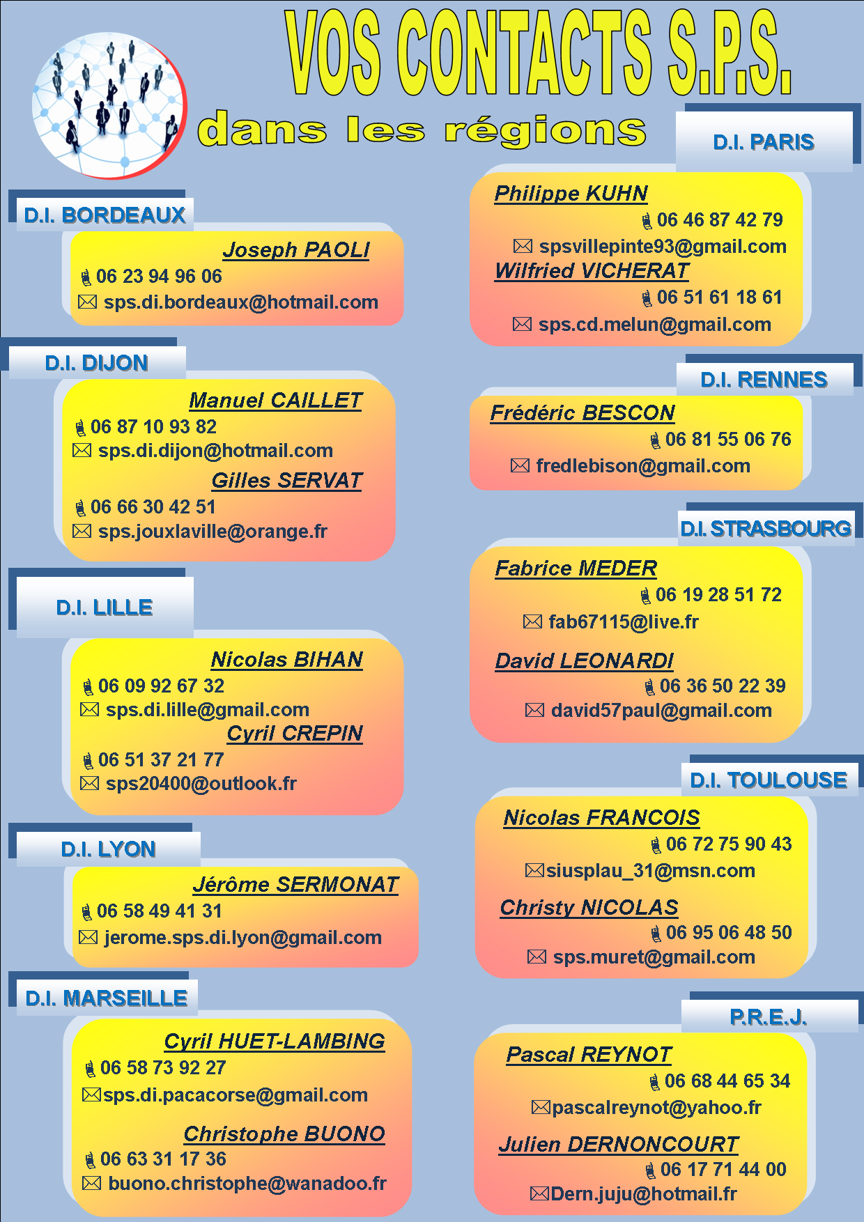 Contacts regionaux 2