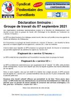 Declaration liminaire