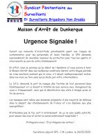 Dunkerque urgence signalee