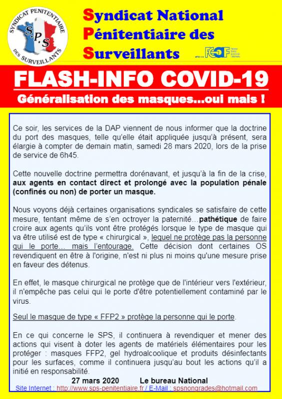 Flash info covid 19