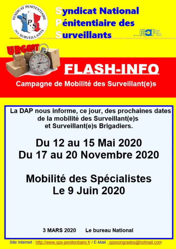 Flash info mobilite