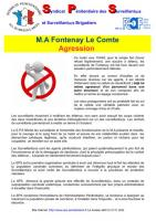 Fontenay le comte agression