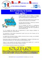 Fontenay le comte nuit agitee