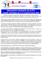 Lorient declaration liminaire