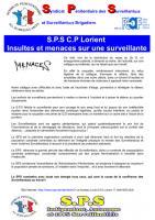 Lorient insultes et menaces