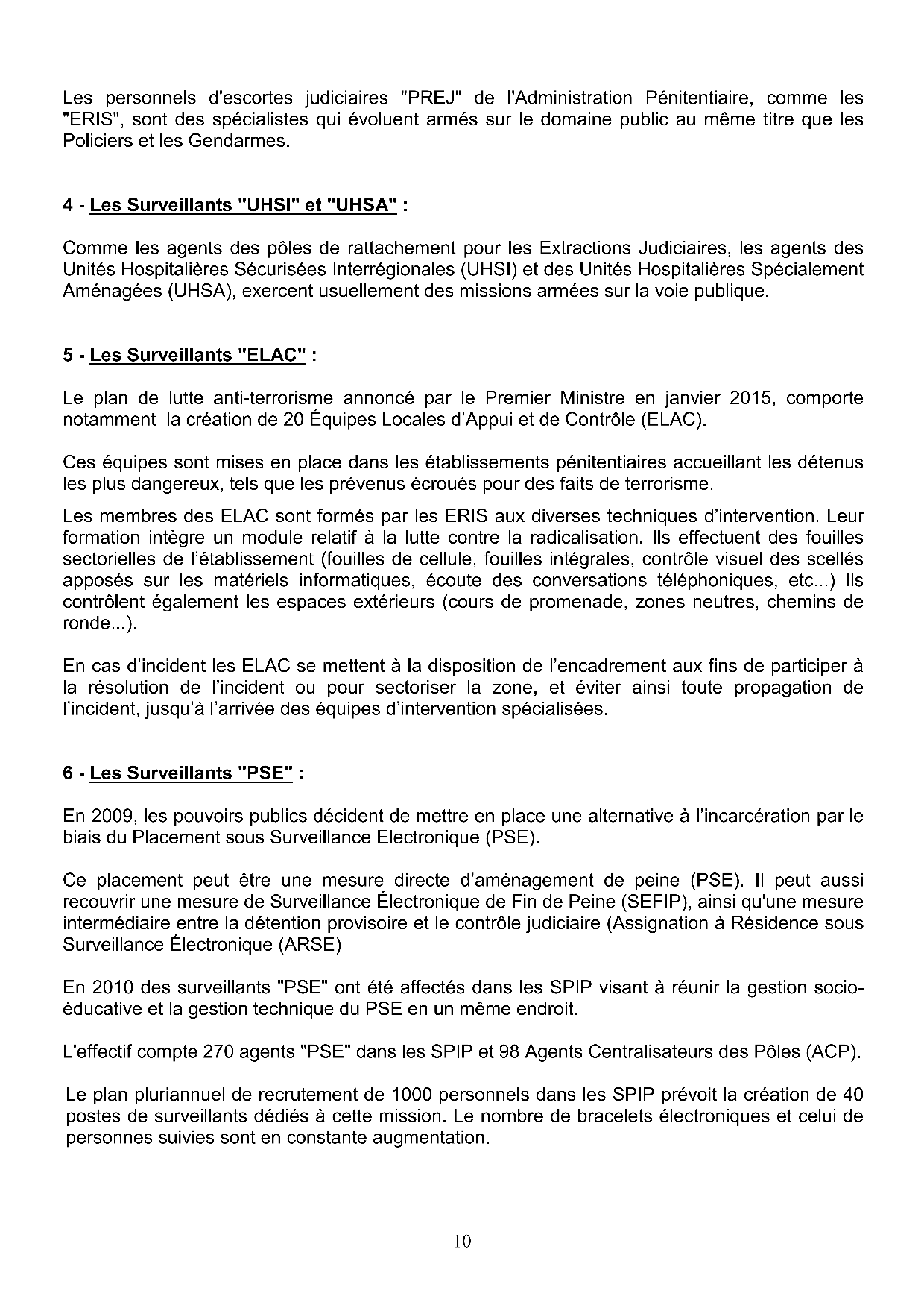Revendications statutaires10