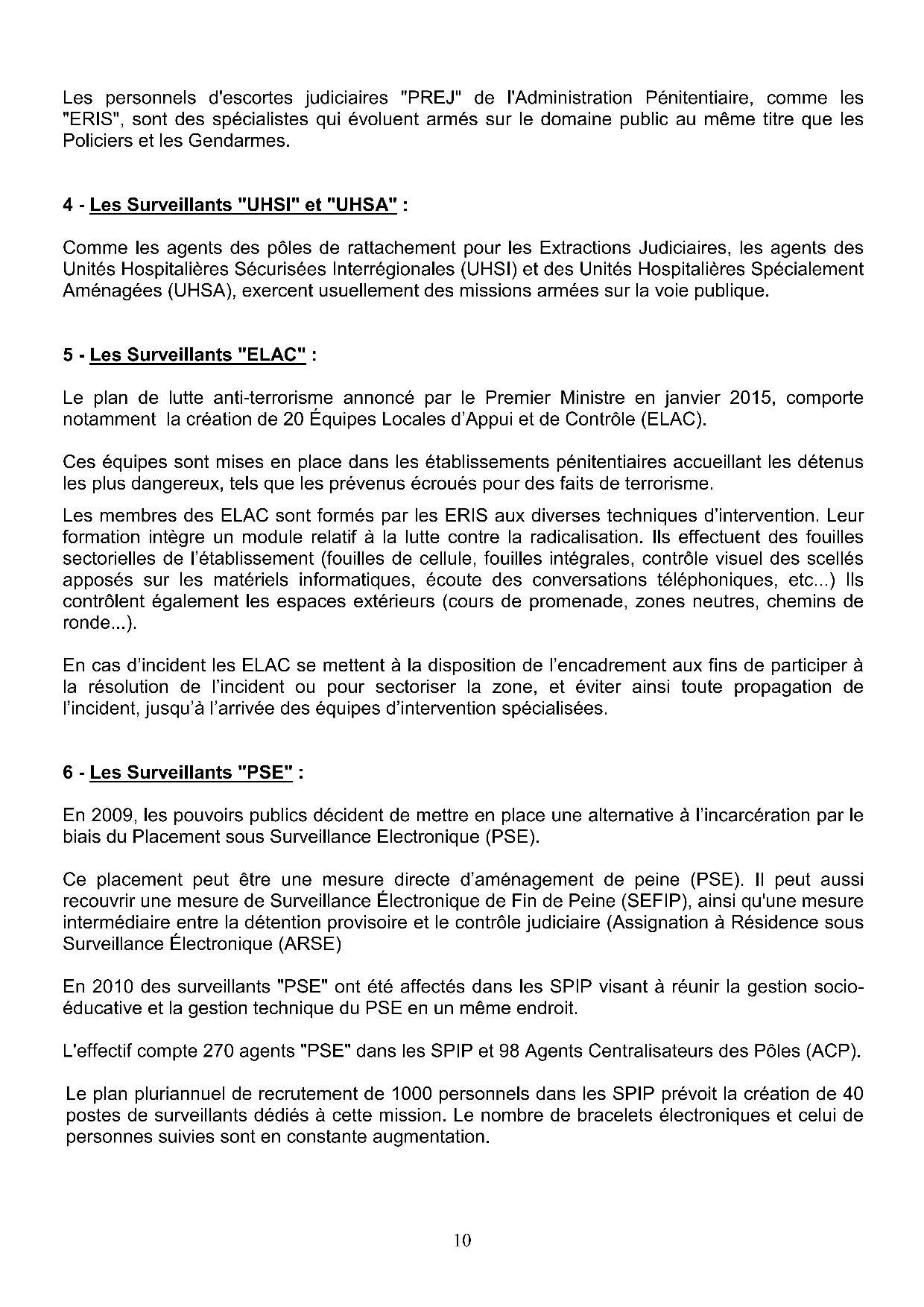 Revendications statutaires10