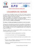 Rouen champion du monde