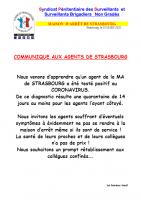 Strasbourg communique aux agents de strasbourg