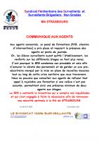 Strasbourg communique aux agents